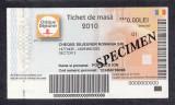 A4133 Bon Tichet de masa SPECIMEN Cheque dejeuner 2010 UNC