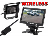 Set de Mers Inapoi Auto Wireless - Camera Video Marsarier cu Display LCD 7 Inch si Wi-Fi, Montare Rapida