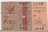 Bnk  div CFR - tren - bilet +supliment-tichet rapid Herculane 1982