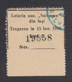 Bilet loto 2 lei 1930 Loteria soc. Salvarea din Iasi 4