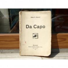DA CAPO , RADU D. ROSETTI , 1919 , AUTOGRAF IN VERSURI