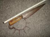 Pumnal/Cutit de lupta /box, sex XVII-XVIII, piesa Rara/Panoplie/Colectie/decor