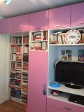 Vand mobila roz cu alb pentru fetita, pal melaminat