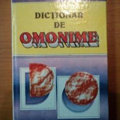 Dictionar de Omonime , Gh. Bulgar , N. Felecan , 1996