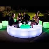 Sofa LED modulara, iluminata RGB, control telecomanda, IP65, 120x40x40 cm