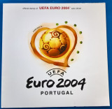 PORTUGALIA-FOTBAL-C.M-EURO2004''-Colita in pliant dimens.ff mari-MNH-LUX, Stampilat