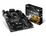 Placa de baza MSI Socket LGA1151, Z270 PC MATE, Intel Z270 Chipset, 4 *DDR4, 3800(OC)/ 3600(OC)/ 3200(OC)/ 3000(OC)/ 2800(OC)/ 2600(OC)/ 2400/ bulk, Altul, ATX