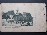 SIBIU - PIATA MICA - KLEINER RING - ANIMATIE - INCEPUT DE 1900, Circulata, Fotografie