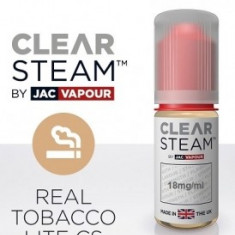 Lichid Tigara Electronica Premium Jac Vapour Clear Steam Real Tobacco Silver 10ml, Nicotina 18mg/ml, High PG, Fabricat in UK