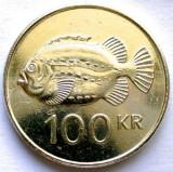 MOKAZIE , ISLANDA , 100 KRONUR 2001 , PESTE Lumpfish (Cyclopterus lumpus). 26mm., Europa