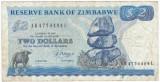 ZIMBABWE 2 dolari 1983 VF P-1b