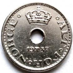 MOKAZIE , Norvegia Haakon VII (1930-1957) 10 Ore 1937
