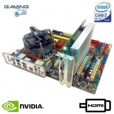 KIT Placa de baza ASUS WI-FI + Intel Core2Quad Q6600 2.4GHz + nVidia 8600GT HDMI, Pentru INTEL, LGA775, DDR2