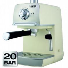 Espressor cafea Samus Aroma 20 White 1.2 litri 20 Bari 850W Cream / Inox