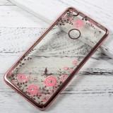 Husa Huawei P9 Lite 2017 - Luxury Flowers Rose Gold, Silicon, Carcasa