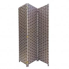Paravan decorativ, 175 x 40 cm, model caramizi