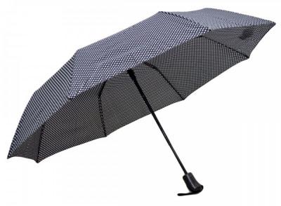 Umbrela Pliabila ICONIC Automata, Neagra cu buline, ?110cm, articulatii anti-vant foto