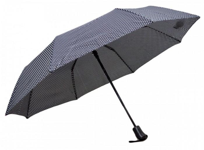Umbrela Pliabila ICONIC Automata, Neagra cu buline, ?110cm, articulatii anti-vant