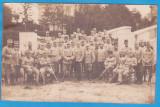 CARTE POSTALA DIN WW1 - FOTOGRAFIE DE GRUP CU SOLDATI DIN ARMATA AUSTRIACA, Circulata, Austria