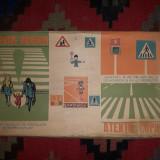 Joc pentru invatat reguli de circulatie, vechi, Made in Romania