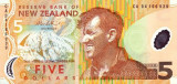 NOUA ZEELANDA █ bancnota █ 5 Dollars █ 2014 █ P-185 █ POLYMER █ UNC