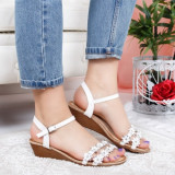 Sandale Imdori albe cu platforma