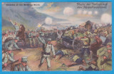 CARTE POSTALA DIN WW1 - DESENE CU SCENE DE LUPTA - FUGA RUSILOR PESTE CARPATI, Necirculata, Printata, Austria