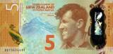 NOUA ZEELANDA █ bancnota █ 5 Dollars █ 2015 █ P-191 █ POLYMER █ UNC