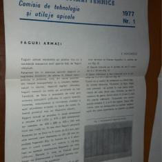 INDRUMARI TEHNICE APICULTURA , ANUL 1977 NR 1,2,3