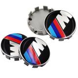 Set 4 capace jante cu sigla BMW M pentru BMW seria 1 3 5 6 7 X3 X5 X6 M3 M5 M6