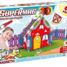 SUPERMAG 3D - JUCARIE CU MAGNET CASUTA - 60 PIESE - VV25396