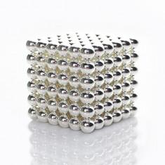 Neocube 216 bile magnetice 5mm, joc puzzle, culoare argintie, peste 14 ani