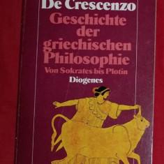 Geschichte der griechischen Philosophie von Sokrates bis Plotin/ L. De Crescenzo