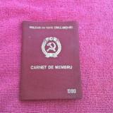 CARNET DE MEMBRU AL PCR PARTIDUL COMUNIST ROMAN