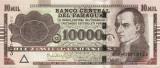 PARAGUAY █ bancnota █ 10000 Guaranies █ 2015 █ P-224f █ Serie H UNC necirculata