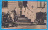 CARTE POSTALA DIN WW1 - FOTOGRAFIE DE GRUP DIN SPITALUL MILITAR TEPLICZ, Circulata