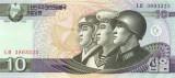 COREEA DE NORD █ bancnota █ 10 Won █ 2002 █ P-59 █ UNC █ necirculata