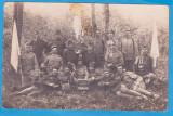 CARTE POSTALA DIN WW1 - FOTOGRAFIE DE GRUP CU SOLDATI DIN ARMATA AUSTRIACA, Necirculata, Austria