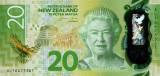 NOUA ZEELANDA █ bancnota █ 20 Dollars █ 2016 █ P-193 █ POLYMER █ UNC