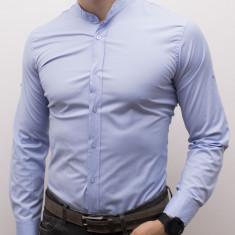 Camasa tunica bleu - camasa nunta camasa slim fit camasa ocazie cod 177, L, M, S, XL, XXL, Maneca lunga, Din imagine