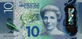 NOUA ZEELANDA █ bancnota █ 10 Dollars █ 2015 █ P-192 █ POLYMER █ UNC