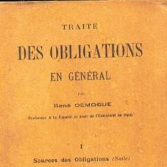 TRAITE DES OBLIGATIONS SOURCE D'OBLIGATIONS RENE DEMOGUE