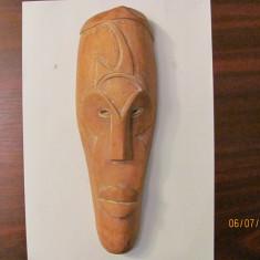 PVM - Masca aplica (mai) veche africana Africa din lemn