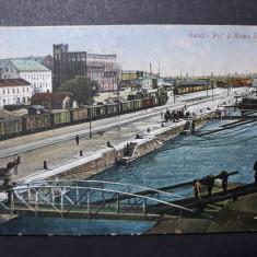 GALATI - PORTUL SI MOARA STEAUA - INCEPUT DE 1900, Circulata, Fotografie