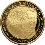 Moneda AUR 999/000-  DE 31.103 Grame-uncie BNR-Eminescu 2010-500 buc.
