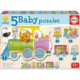 Puzzle Baby Animals Train - VV25753, Educa