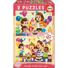 Puzzle Birthday Party 2 x 50 Piese - VV25773, Educa