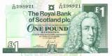 SCOTLAND █ bancnota █ 1 Pound █ 2001 █ P-351e █ ROYAL BANK OF SCOTLAND █ UNC