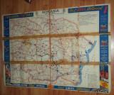Harta drumurilor din Romania perioada interbelica ACCR ulei Luboil statii Unirea