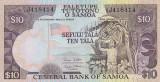 SAMOA █ bancnota █ 10 Tala █ 2005 █ P-34b █ UNC █ necirculata